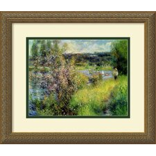 'The Seine at Chatou' by Pierre Auguste Renoir Framed Painting Prints
