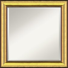 <strong>Amanti Art</strong> Vegas Burnished Square Wall Mirror