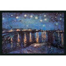 'Starlight Over the Rhone' by Vincent Van Gogh Framed Painting Prints