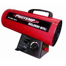 60,000 BTU Forced Air Utility Propane Space Heater with Variable Control
