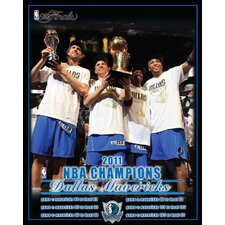 NBA Dallas Mavericks 2011 Finals Champion Graphic Art on Canvas
