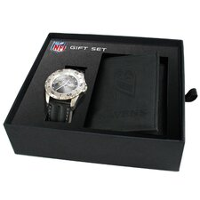 NFL Game Time Watch and Tri-Fold Wallet Combination Pack