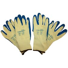 Cor-Grip II Premium Blue Crinkle Latex Glove - Large (Pack of 2)