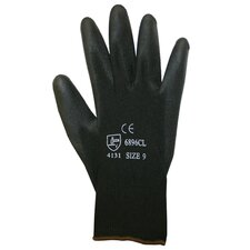 Polyurethane / Polyester Glove in Black - Large