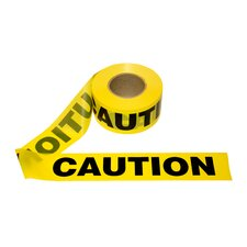 3 in. x 1000 ft Yellow Caution Tape - 2.0 mil. Thickness