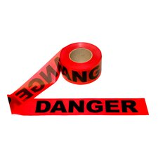 3 in. x 1000 ft Red Danger Tape - 1.5 mil. Thickness