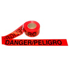 3 in. x 1000 ft Bilingual Red Danger Tape - 2.0 mil Thickness