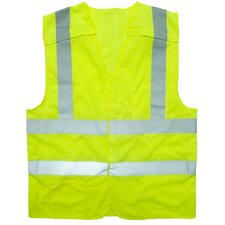 Flame Resistant 5 point Breakaway Class 2 Hi Vis Safety Vest - Large