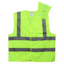 Hi Vis Reflective Safety Vest in Lime Green (Class 2) - Large