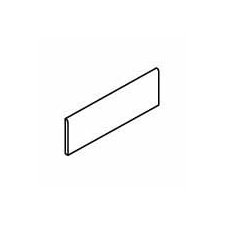 """Carriage House 12"""" x 3"""" Bullnose Tile Trim in Saddle"""
