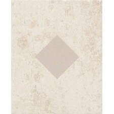 "Carriage House 10"" x 8"" Glazed Wall Tile Accent with Diamond Cutout in Canvas"