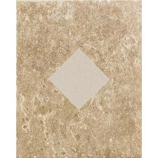 "Carriage House 10"" x 8"" Glazed Wall Tile Accent with Diamond Cutout in Saddle"
