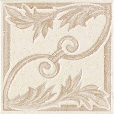 "Carriage House 2"" x 2"" Floral Decorative Insert in Glazed Canvas"