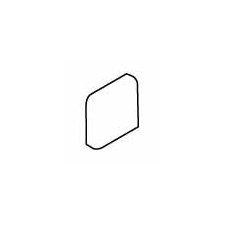 """Carriage House 2"""" x 2"""" Radius Bullnose Corner Tile Trim in Canvas"""