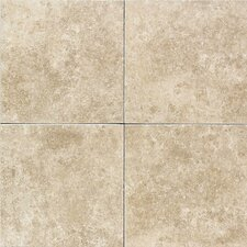 "Carriage House 12"" x 12"" Glazed Field Tile in Straw"