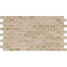 "Costa Rei 2"" x 1"" Brick Joint Mosaic in Oro Miele"