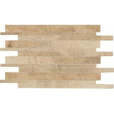 "Costa Rei 12"" x 20"" Glazed Interlocking Decorative Accent Tile in Oro Miele"