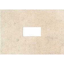 "Costa Rei 14"" x 10"" Glazed Decorative Wall Tile with Cutout in Sabbia Dorato"