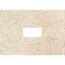 """Costa Rei 14"""" x 10"""" Glazed Decorative Wall Tile with Cutout in Sabbia Dorato"""