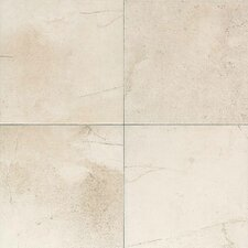 "Costa Rei 18"" x 18"" Glazed Field Tile in Pietra Bianco"