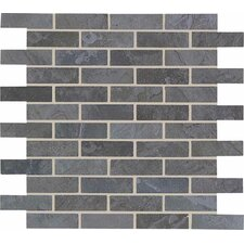 "Highland Ridge 11 7/8"" x 11 7/8"" Brick Pattern Mosaic Tile in Mountain"