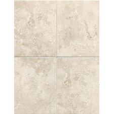 "Pozzalo 12"" x 9"" Glazed Field Tile in Sail White"