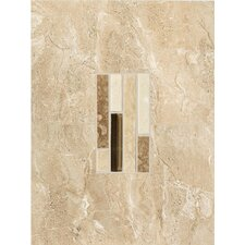 "<strong>American Olean</strong> Torre Venato 12"" x 9"" Glazed Porcelain Decorative Wall Tile in Sabbia"
