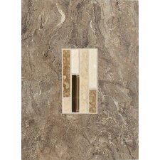 "Torre Venato 12"" x 9"" Glazed Porcelain Decorative Wall Tile in Noce"