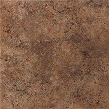 "Vallano 18"" x 18"" Glazed Field Tile in Dark Chocolate"