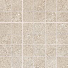 "Allora 3"" x 3"" Unpolished Porcelain Mosaic Tile in Sabbia"