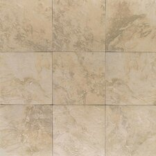 "Amber Valley 3"" x 3"" Glazed Porcelain Floor Tile in Millstone Beige"