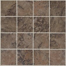 "Amber Valley 13 1/8"" x 13 1/8"" Glazed Porcelain Mosaic Tile in Derby Brown"