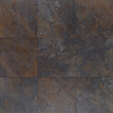 "Amber Valley 3"" x 3"" Glazed Porcelain Floor Tile in River Moss"