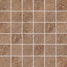 "Allora 3"" x 3"" Unpolished Porcelain Mosaic Tile in Carmello"