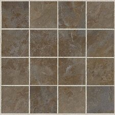 "Amber Valley 3"" x 3"" Glazed Porcelain Mosaic Tile in Bowling Green"