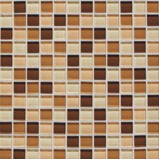 "Legacy Glass 1"" x 1"" Glazed Wall Mosaic in Desert Blend"