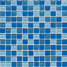 "Legacy Glass 1"" x 1"" Glazed Wall Mosaic in Blue Blend"