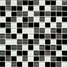 "Legacy Glass 1"" x 1"" Glazed Wall Mosaic in Black Blend"