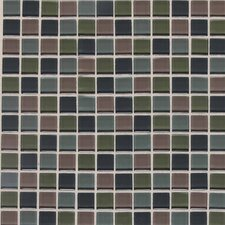 "Legacy Glass 12"" x 12"" Glazed Wall Mosaic in Smokey Blend"