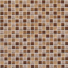 "Legacy Glass 5/8"" x 5/8"" Glazed Glass and Stone Mosaic in Wheat Field Blend"