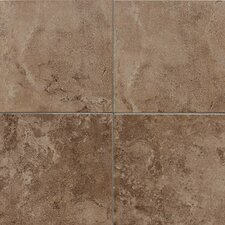"Pozzalo 18"" x 18"" Glazed Field Tile in Weathered Noce"