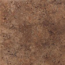 "Vallano 6"" x 6"" Glazed Field Tile in Dark Chocolate"