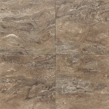 Torre Venato Glazed Porcelain Field Tile in Noce