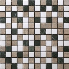 "<strong>StoneSkin</strong> Traditional 12"" x 12"" Mosaic in White/Green Mix"
