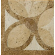 "Natural Stone 4"" x 4"" Waterjet Travertine Listello Corner in Maggiore"