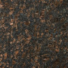 "Natural Stone 12"" x 12"" Granite Tile in Tan Brown"