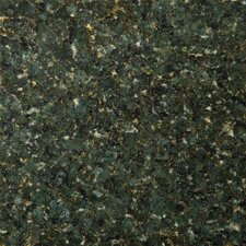 "Natural Stone 12"" x 12"" Granite Tile in Ubatuba Green"