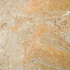 """Natural Stone 12"""" x 12"""" Marble Tile in Breccia Oniciata"""