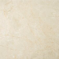 "<strong>Emser Tile</strong> Crema Marfil 12"" x 12"" Polished/Honed Marble Tile in Crema Marfil"