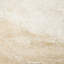 "Natural Stone 12"" x 12"" Marble Tile in Milano Beige"